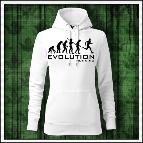 Vtipna damska jednofarebna mikina Evolution Running