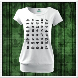 Vtipné dámske tričká s patentom Icon Speak