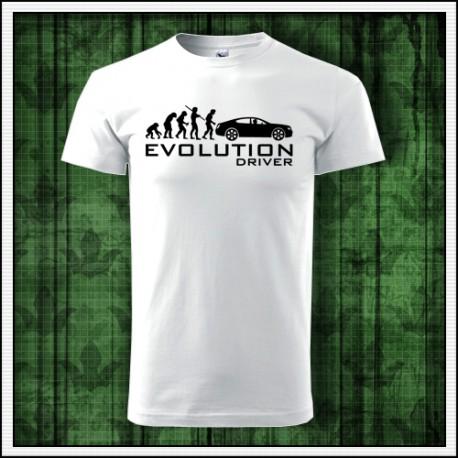 Vtipne unisex tricko Evolution Driver