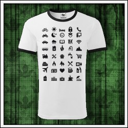 Vtipné unisex dvojfarebné tričko pre cestovateľov Icon Speak