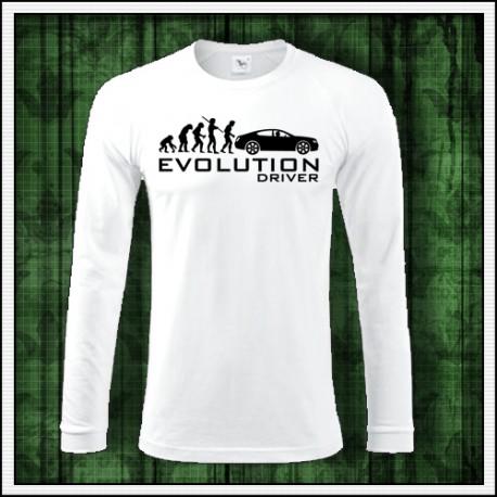 Vtipné pánske dlhorukávové tričko Evolution Driver