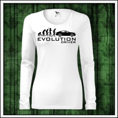Vtipné dámske dlhorukávové tričko Evolution Driver