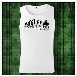 Vtipné pánske tielko Evolution Quads
