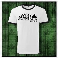 Vtipne unisex dvojfarebne tricko Evolucia stvorkolky