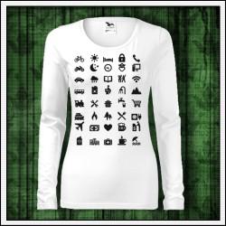 Vtipné dámske dlhorukávové tričká Icon Speak