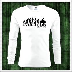 Vtipne panske dlhorukavove biele tricko Evolution Quads