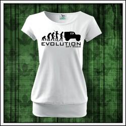 Vtipne damske biele tielko Evolution Off Road