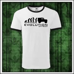 Vtipné unisex dvojfarebné tričko Evolution Off Road