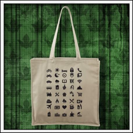 Vtipné turistické tašky Icon Speak