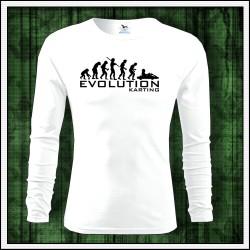 Vtipné pánske dlhorukávové tričko Evolution Karting