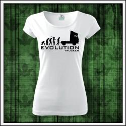 Vtipné dámske tričko Evolution Trucker