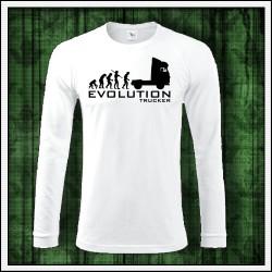 Vtipné pánske dlhorukávové tričko Evolution Trucker