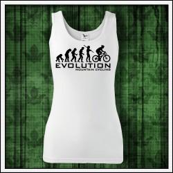 Vtipné dámske tielko Evolution Mountain Cycling