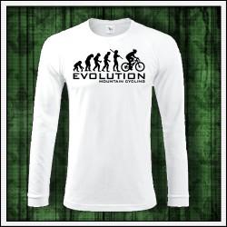 Vtipné pánske dlhorukávové tričko Evolution Mountain Cycling