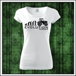 Vtipné dámske tričko Evolution Farmer