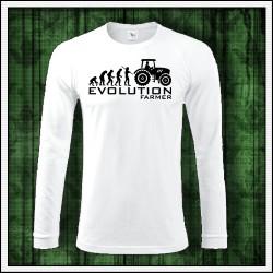 Vtipné pánske dlhorukávové tričko Evolution Farmer