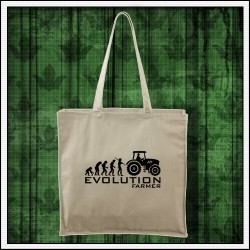Vtipná taška Evolution Farmer prírodná, taška pre traktoristu