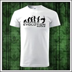 Vtipné unisex tričká Evolution Rocks