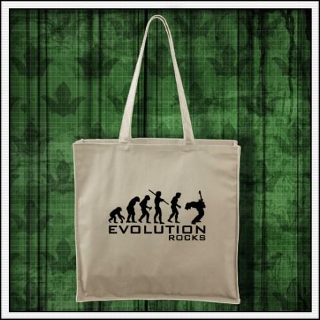 Vtipná taška Evolution Rocks prírodná