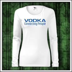 Vtipné dámske dlhorukávové tričko Vodka