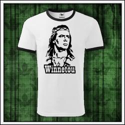 Unisex dvojfarebné tričká Winnetou