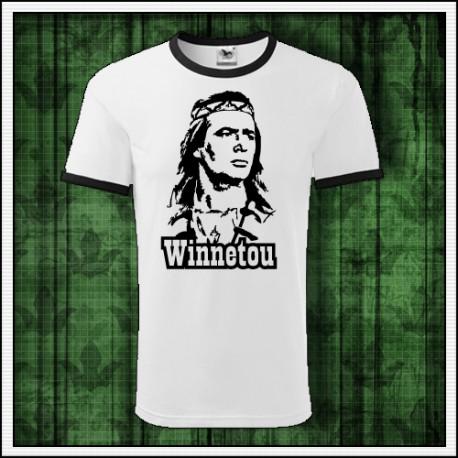 Unisex dvojfarebné retro tričko Winnetou