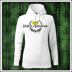Vtipna damska jednofarebna mikina Dolce & Banana