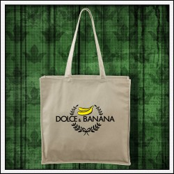 Vtipná taška prírodná Dolce & Banana