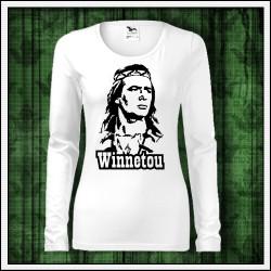 Dámske dlhorukávové retro tričká Winnetou