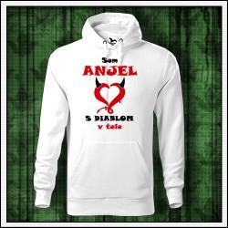 Vtipna pánska mikina Som anjel s diablom v tele