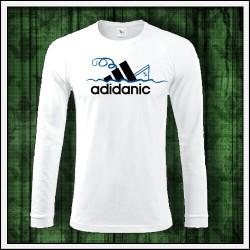 Vtipné pánske dlhorukávové tričko Adidanic