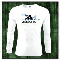 Vtipné pánske tričko s dlhým rukávom Adidanic