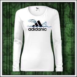 Vtipné dámske dlhorukávové tričko Adidanic