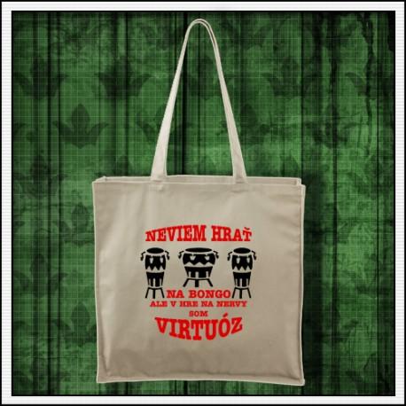Vtipná taška prírodná Bongo virtuóz