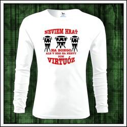 Vtipné detské dlhorukávové tričko Bongo virtuóz