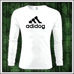 Vtipné pánske dlhorukávové tričko Adidog, vtipný vianočný darček