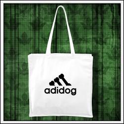 Vtipná biela taška Adidog