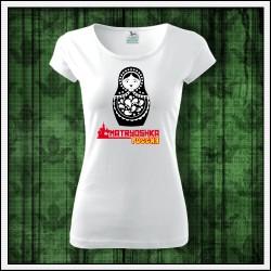 Dámske ruské tričko Matryoshka, matryjoška