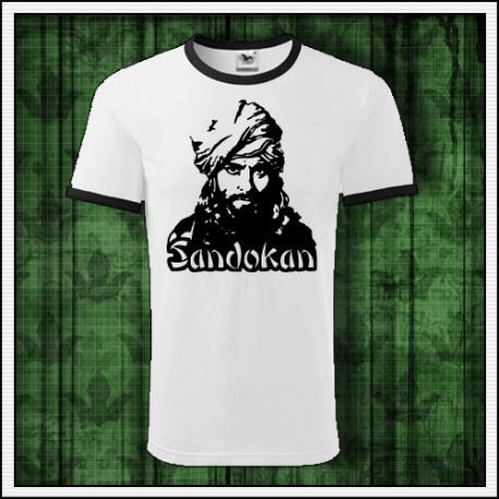 Unisex dvojfarebné tričká so Sandokanom