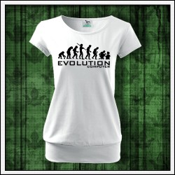Vtipné dámske tričko s patentom Evolution Computer