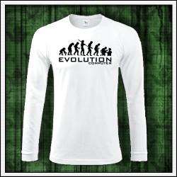 Vtipné pánske dlhorukávové tričko Evolution Computer