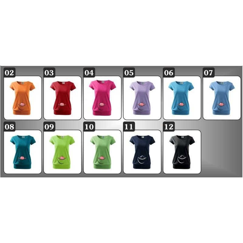 b544db0c9c34 ... Vtipné dámske tehotenské tričko Vykúkajúce dieťa (vak)