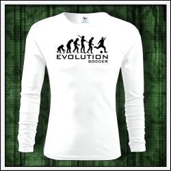 Vtipné pánske tričko s dlhým rukávom Evolution Soccer, darček pre futbalistu