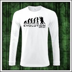 Vtipné pánske dlhorukávové tričko Evolution Salsa