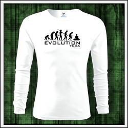 Vtipné pánske dlhorukávové tričko Evolution Yoga