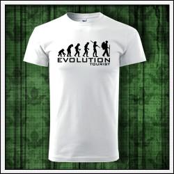 Vtipné unisex tričko Evolúcia turistu, darček pre turistov