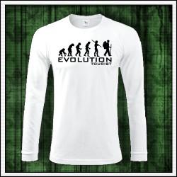 Vtipné pánske dlhorukávové tričko Evolution Tourist