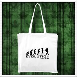 Vtipná taška Evolution Tourist, turistický darček