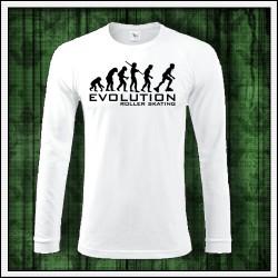 Vtipné pánske dlhorukávové tričko Evolution Roller Skating