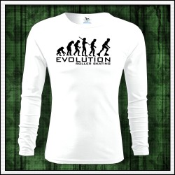 Vtipné pánske dlhorukávové tričko evolucia korculovania